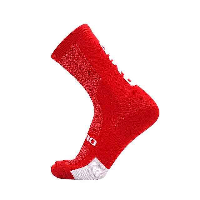 Ciclismo meias homens mulheres joelho meias altas meias de futebol correndo esportes equipe caminhadas meias de algodão sobre o joelho meias 3