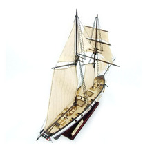 1:130 Assembly Classical Ship Decoration Scale Gift Mini Sailing Boat Model DIY Retro Children Toys Wooden Home цены онлайн