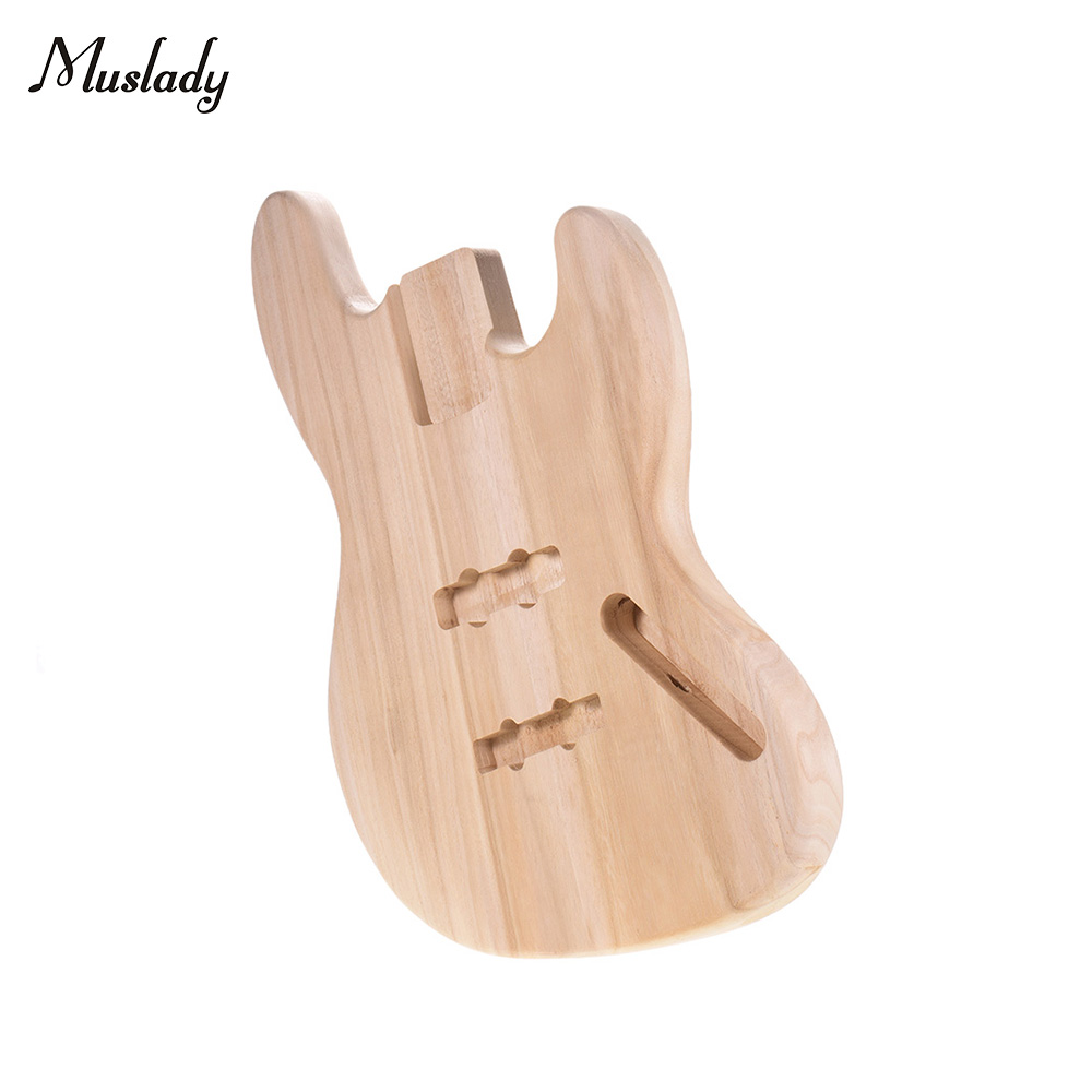 Barrel Guitar-Accessories Blank Diy-Parts Platane-Wood Unfinished Muslady for Jb-Style title=
