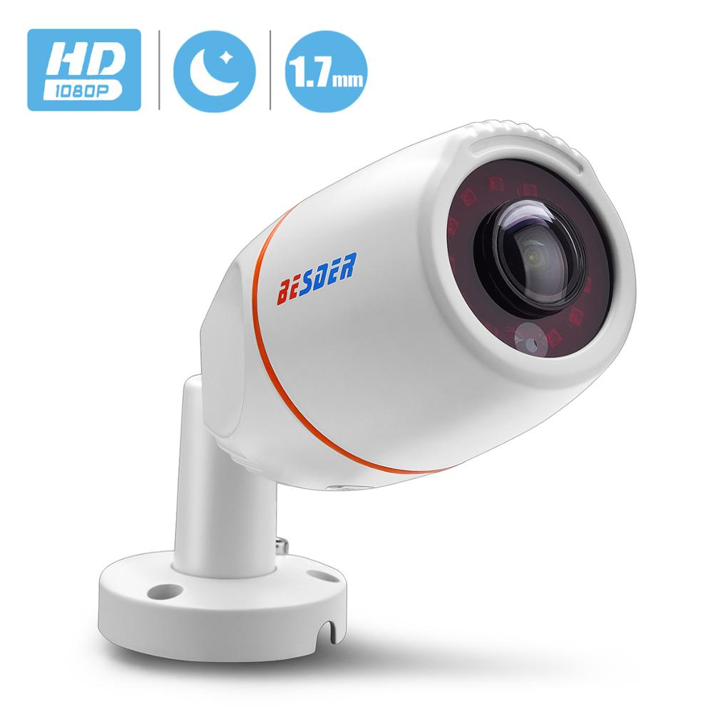 BESDER Wide Angle 1.7mm Panoramic IP <font><b>Camera</b></font> Outdoor Waterproof 1080P <font><b>HI3516E</b></font> 1/2.8'' SONY IMX307 Bullet CCTV ONVIF RTSP 48V PoE image