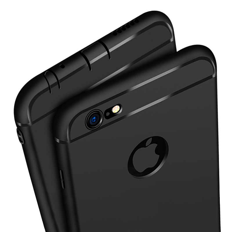 Capa de silicone ultra fino para iphone 7 6 6s 8 x capa coque doces cores tpu macio matte caso de telefone para iphone 7 8 plus xs max xr