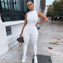 Totatoop Women Sporty Casual Summer Jumpsuit 2020 Sleeveless Skinny Outfit Active Wear Female Solid
