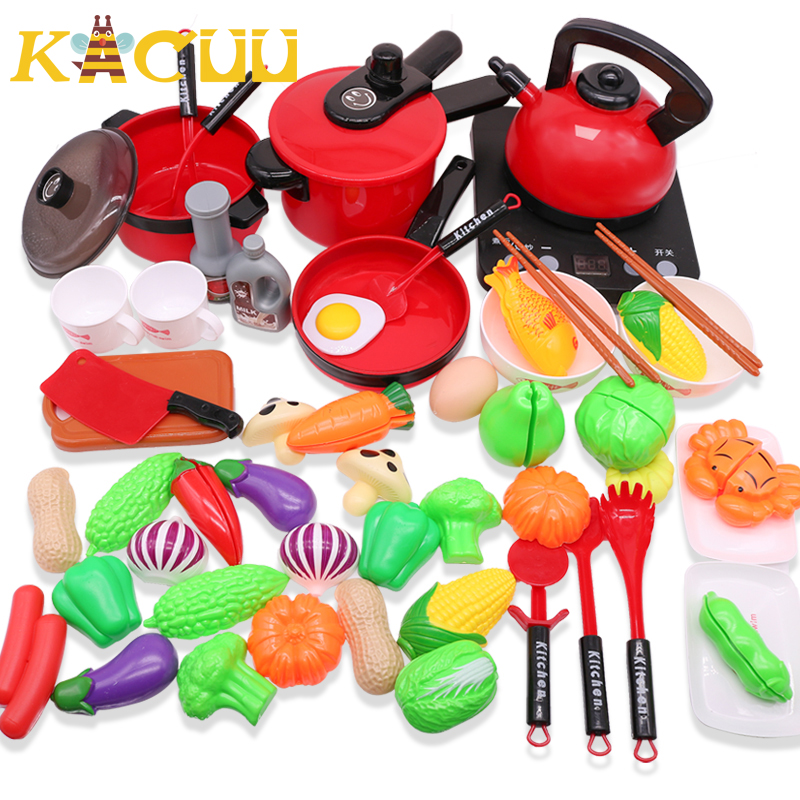 Children Miniature Kitchen Toys Set Pretend Play Simulation Food Cookware Pot Pan Cooking Play House Utensils Toy Kids Gift