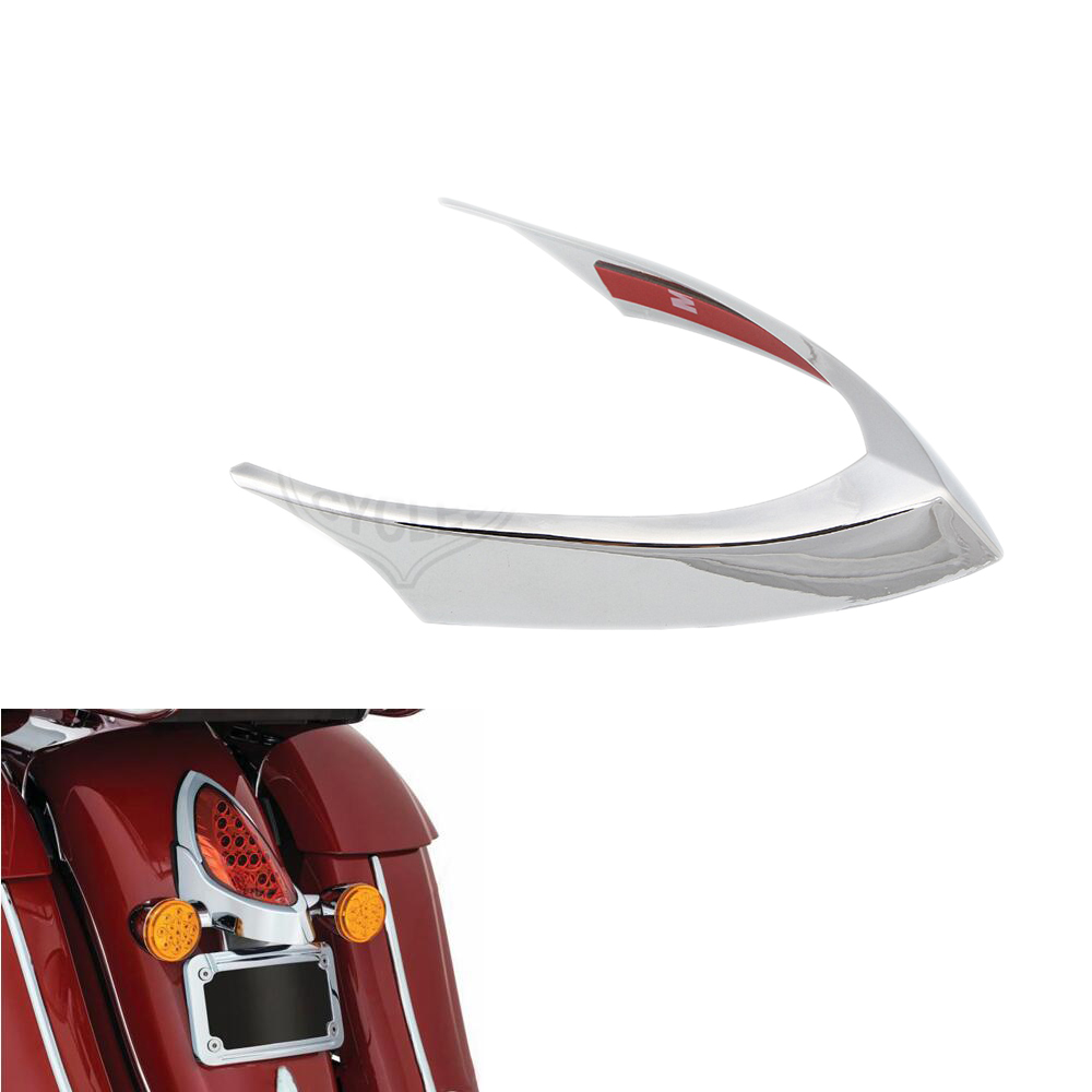 Chrome ABS Taillight Trim Cover For Indian Chief Classic Dark Horse 2014-2018