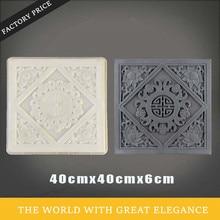 40 см/15.74in 3D китайские узлы Лотос абстрактный Гео графика цветок квадратный прочный пластик АБС цемент толстой стены плитка плесень