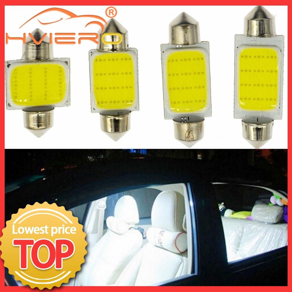 White 12 Led Dome Festoon Light Cob C5W C10W Lamp 31mm 36mm 39mm 42mm Car Led Bulbs Reading Light License Plate Door Backup Lamp