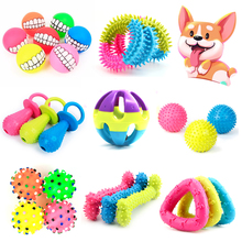 Cute Pet Toys for Small Dogs Rubber Resistance To Bite Puppy Toy Teeth Cleaning Chew Training Toys Pet Supplies Interactive Game shark bite game funny toys desktop fishing toys kids family interactive toys board game