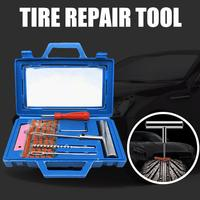 SALE Car Tubeless Tyre Tire Repair Tool Puncture Repair Plug Repairing Kit Needle Patch Fix Tools Wholesale Quick delivery CSV Tire Accessories     -