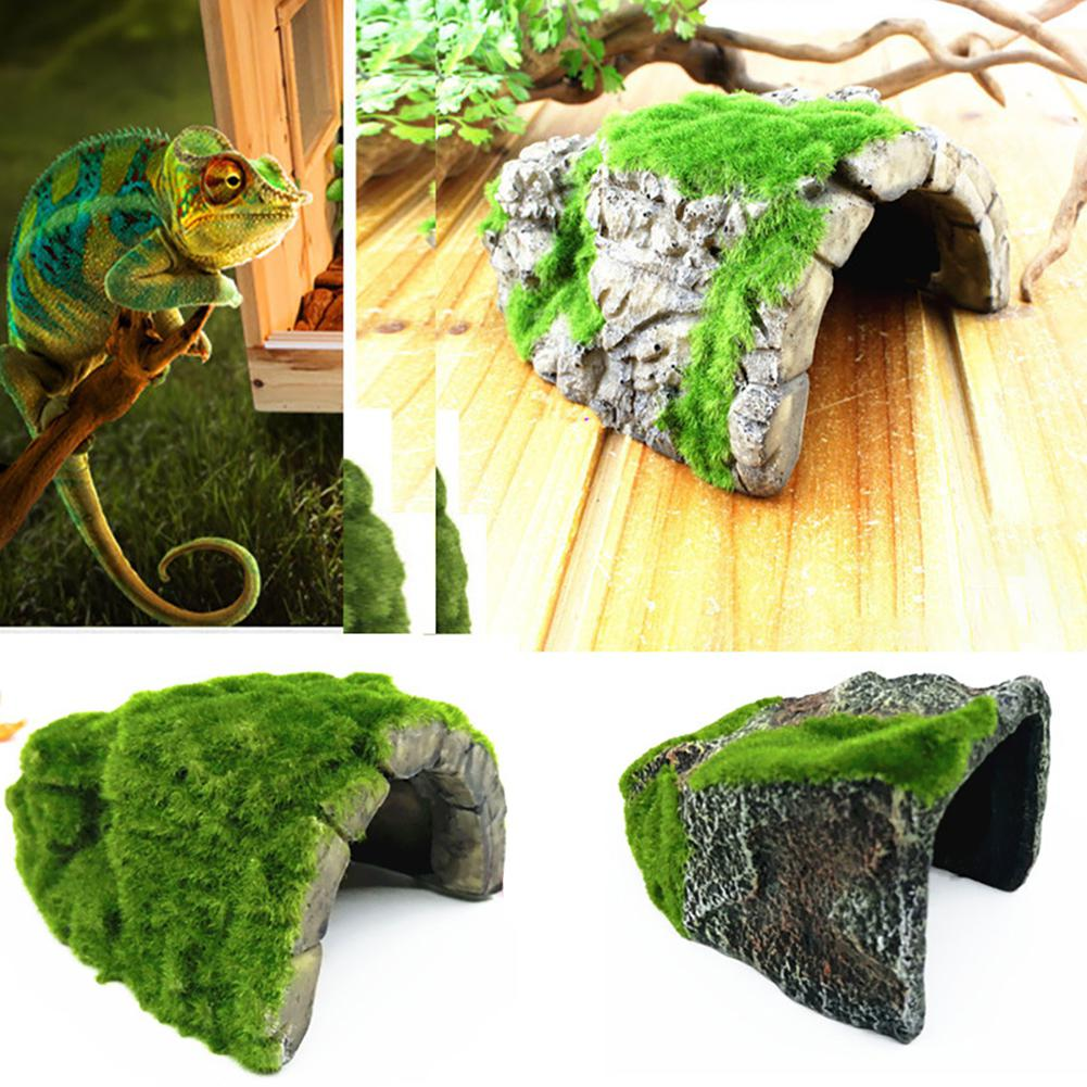 US $8.75 30% OFF|TWISTER.CK Simulate Moss Flocking Pet Cave Hide Vest for Aquarium Reptiles Box Tortoise Spider-in Habitat Decor from Home & Garden on AliExpress - 11.11_Double 11_Singles