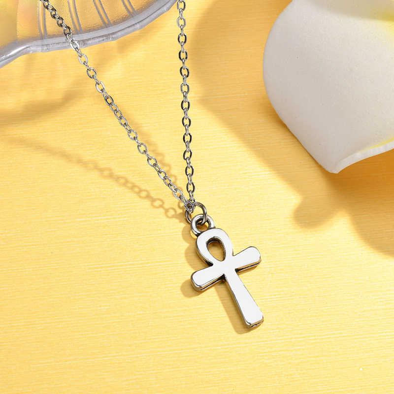 New Hollow Sliver สี Cross สร้อยคอและจี้สำหรับผู้หญิงผู้ชายชายสีทองจี้สร้อยคอ Prayer เครื่องประดับของขวัญเพื่อน