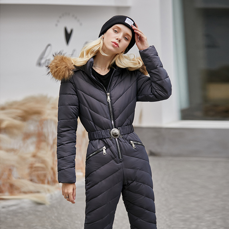 2019 New Women Ski Jacket And Pant Ski Suits Females Jumpsuit Women Snowboard Waterproof Overall Russia