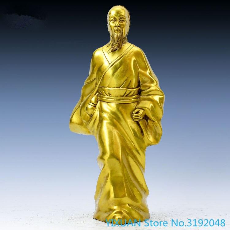 Ornement en cuivre pur de Danghu Jishi | St médical, clinique Huatuo, médecin médical, médecin divin Huatuo, statue de bronze, artisanat