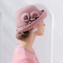 Qpalcr головные уборы для женщин элегантные фетровая шляпка