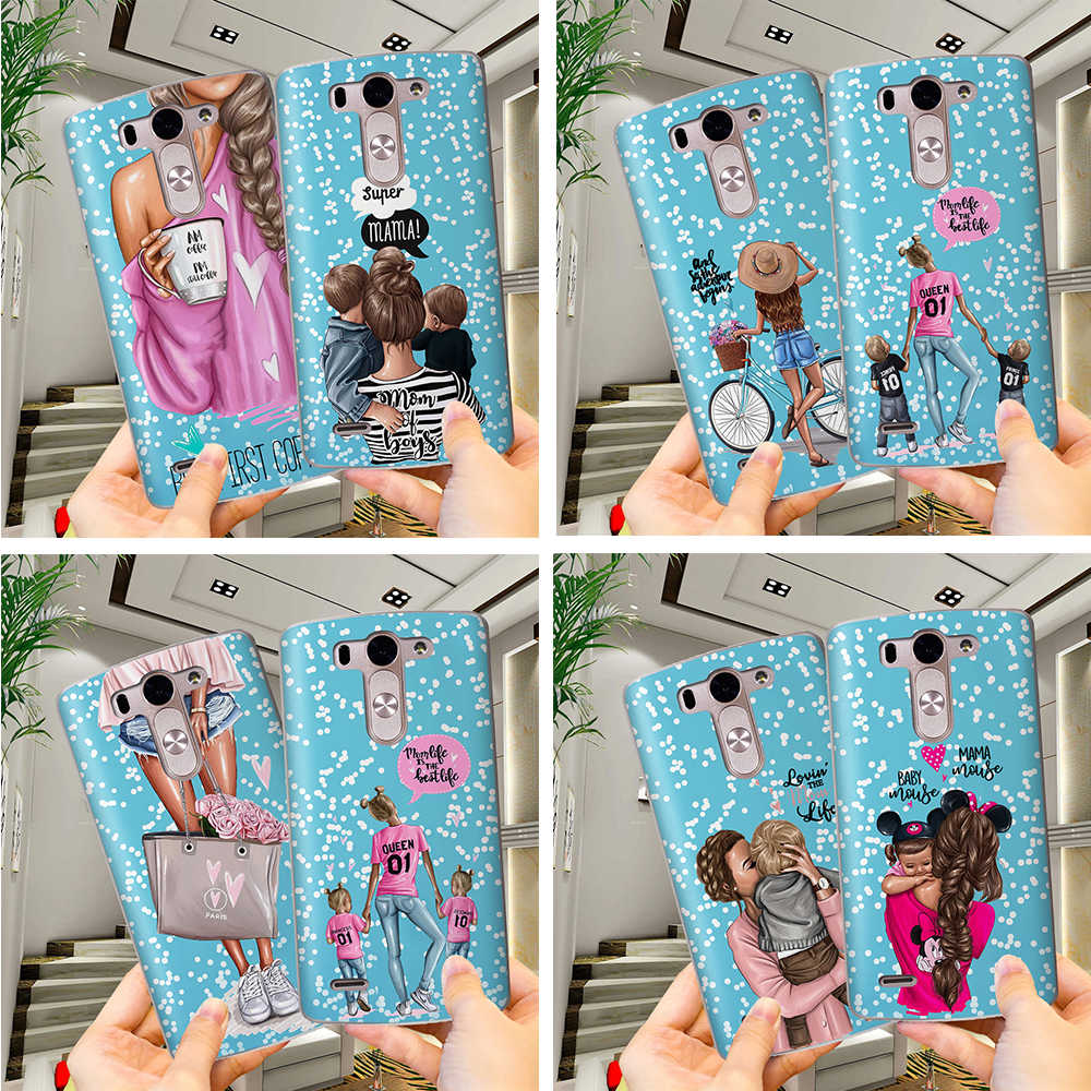 DIY Mama Girl mom Baby Mouse Private Custom Phone Case For LG G6 Q6 G3 G4 G5 G7 XPower 2 V30 Q8 K7 K8 K10 2017 Etui Coque Cover