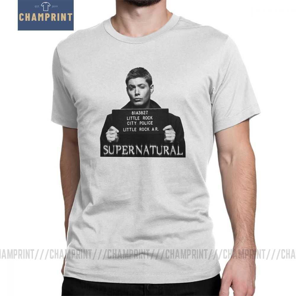 Dean Mugshot Camiseta Spn Supernatural Brothers Camisetas De Tallas Grandes Para Hombres Divertida Camiseta De Algodon Puro Con Cuello Redondo Camisetas Aliexpress