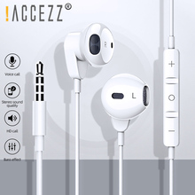 !ACCEZZ 3.5mm Earphone With Mic For iPhone 6 Huawei Xiaomi Samsung MP4 Tablet In-Ear HIFI Wired Control Voice Call Listen Music accezz 3 5mm jack in ear earphone for iphone 5 6 ipad xiaomi samsung universal hifi sport earbuds wired control with microphone