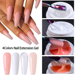 4 Colors Extension Gel Set French White Nude Pink Clear Acrylic Nail Gel Quick Builder Gel For Extending Repair Nails CH1623-1