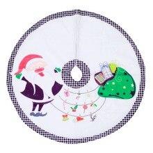 90CM Durable Delicate christmas tree carpet Christmas Cartoon Tree Skirts Santa Claus Elk Anti-dust skirt Home Decorations 1PC
