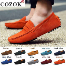 Men casual shoes fashion men genuine leather loafers moccasins