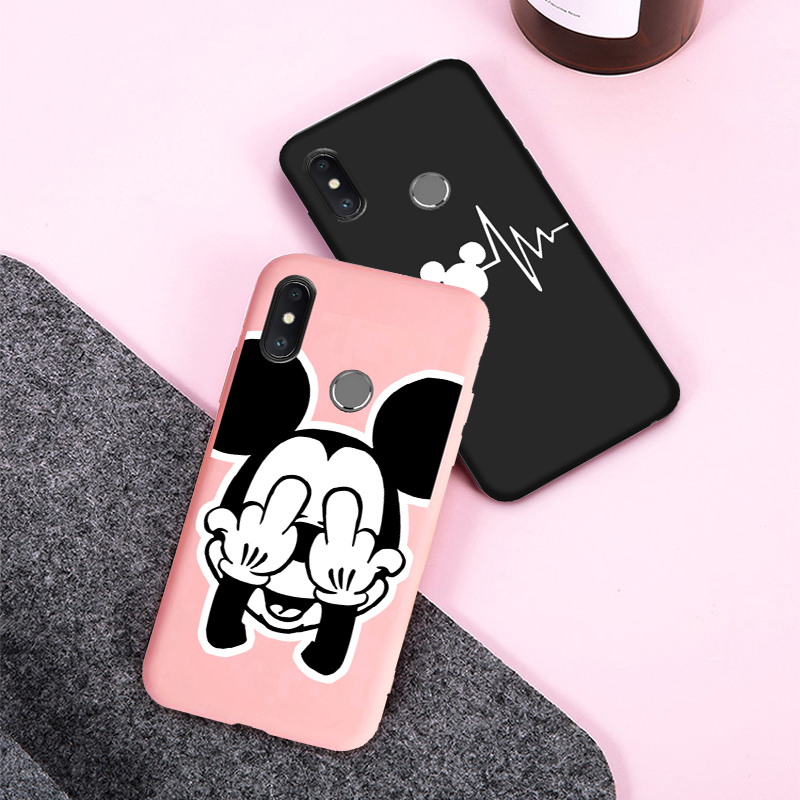 Soft Silicone <font><b>Mickey</b></font> case For <font><b>Xiaomi</b></font> <font><b>mi</b></font> 9 8 lite A3 A2 <font><b>A1</b></font> 5X 6X 9T Case Cover for <font><b>Xiaomi</b></font> Redmi note 7 6 5 8 Pro 8A 7A 6A 5A S2 image
