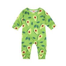 Комбинезоны для новорожденных мальчиков и девочек с милым фруктовым