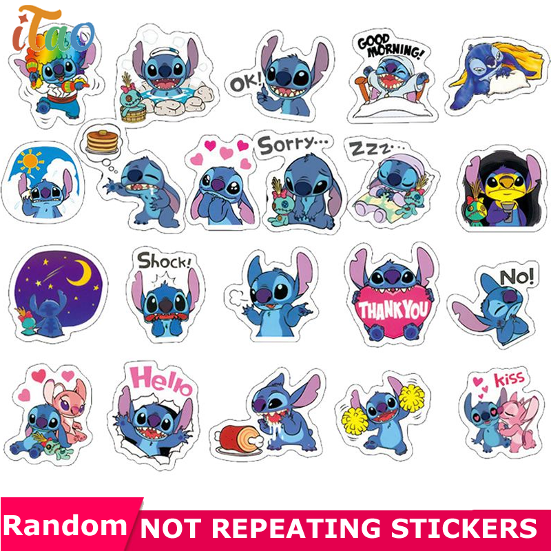 10/20/30/40/50PCS Pack Cartoon Stitch Sticker Waterproof PVC Skateboard Luggage Snowboard Guitar Laptop Kids Toys Cool Stickers