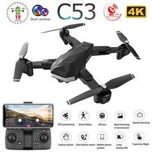 C53 5G GPS WiFi FPV RC Drone with 4K HD Dual Camera Follow Me Optical Flow Folda