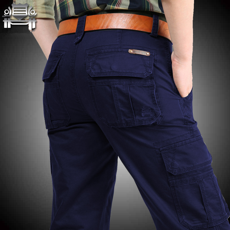 Image 4 - New Cargo Pants Men Multi pockets Baggy Men Pants Military Casual