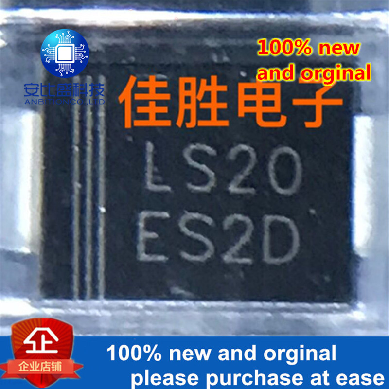 50pcs 100% New And Orginal  ES2DG2A200v Ultrafast Recovery Diode DO214AA Silk-screen ES2D  Instock