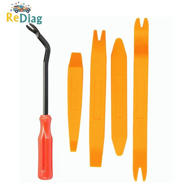 Auto Door Clip Panel Trim Removal Tool Kits Navigation Disassembly Seesaw Car Interior Plastic Seesaw Conversion Tool 4/12 Sets
