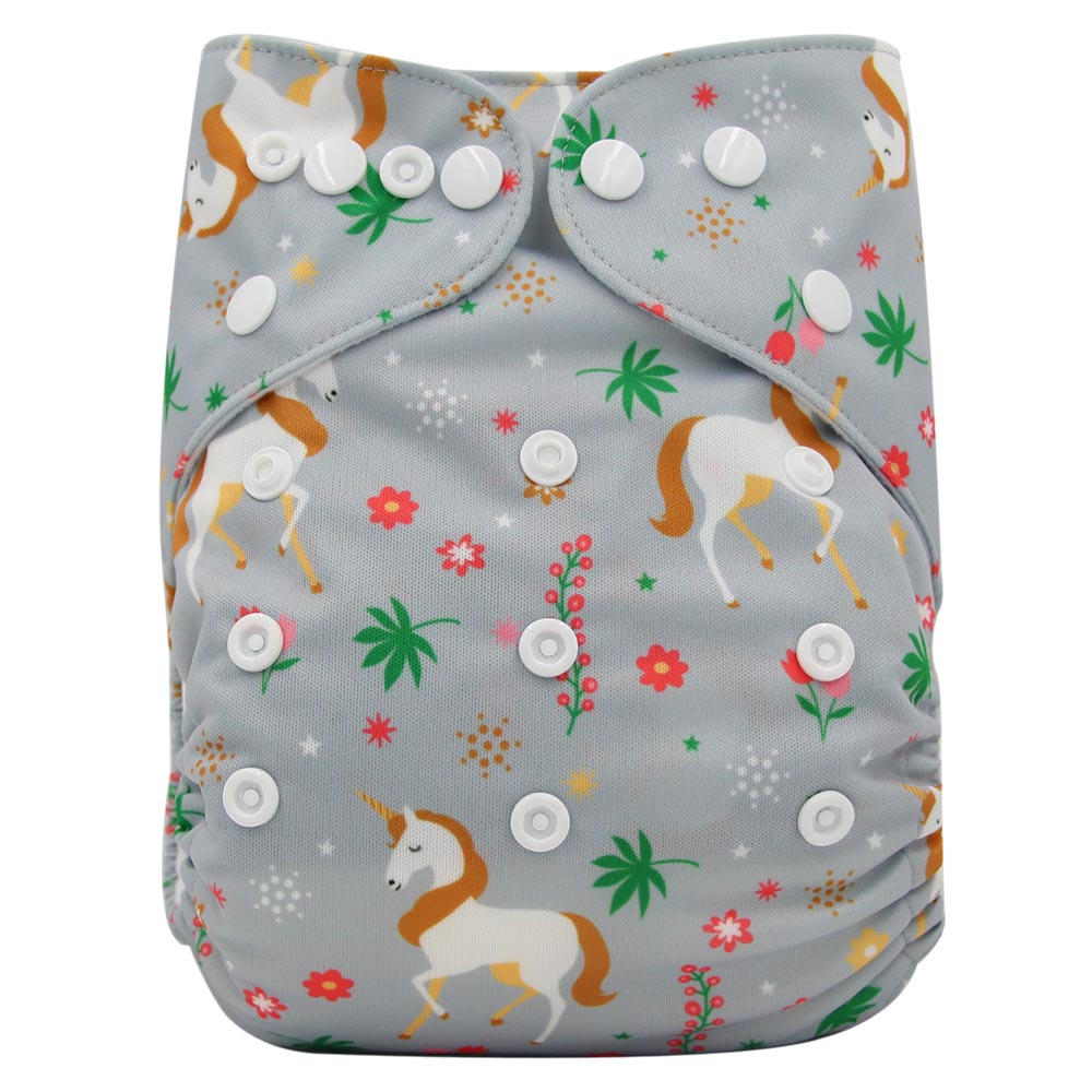 Ohbabyka New Reusable Nappies Panties Waterproof Digital Printed Fralda Baby Cloth Diaper One Size Pocket Diapers Fit For 3-15kg