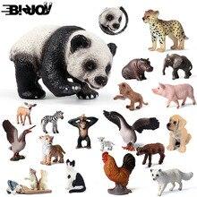 Милый куб модель моделирование зоопарк дикая природа фигура прекрасная образовательная детская панда Лев Зебра слон животное игрушка для детей Декор подарок