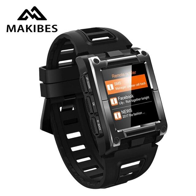 Makibes G08 1 Jahr Garantie GPS Uhr Kompass Armbanduhr Bluetooth Smart Uhren Wasserdicht Herz Rate Multi sport Doppel Elf