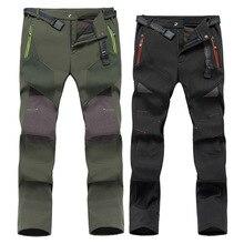 Trousers Soft-Case Slim-Fit Velvet Fleece Plus-Size Warm Climbing Thick Wind-Resistant
