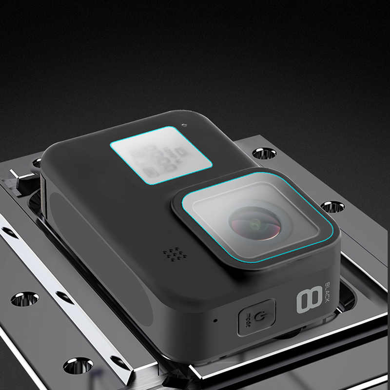 2020 กระจกนิรภัยป้องกันฝาครอบด้านหลังสำหรับ GoPro HERO 8 กล้อง H-ที่ดีที่สุด