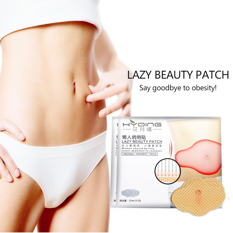5PCS Glamorous Belly Slimming Patch Set Abdomen Fat Burning Navel Sticker 2019 New