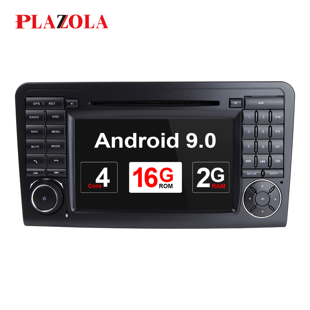 Autoradio Car DVD Player Double Din Android Car Stereo For <font><b>Mercedes</b></font>/Benz/GL <font><b>ML</b></font> <font><b>W164</b></font> ML350 2GB RAM <font><b>Radio</b></font> GPS NAVI DAB Wifi OBD image