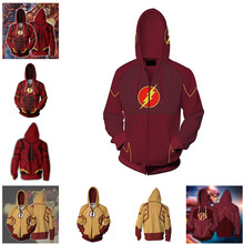 The Flash Hoodie Sweatshirt Cosplay Costume Wally West Anime Jacket Coats Men  Women