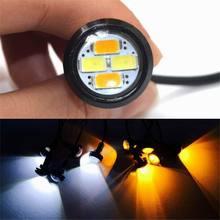 1 Pc 자동차 LED 빛 내구성 외부 DRL 독수리 눈 낮 실행 경고 안개 빛 야외 야간 운전 신호