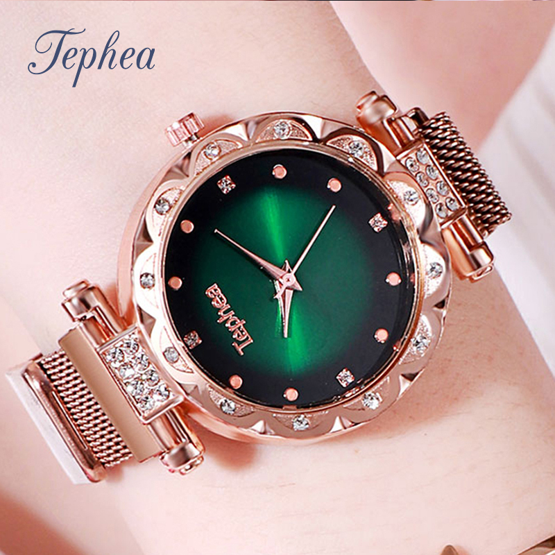 Rose Gold Luxury Women Watches Ladies Watch Diamond Magnetic Wrist Watch Female Wristwatch Relogio Feminino Reloj Mujer 2019