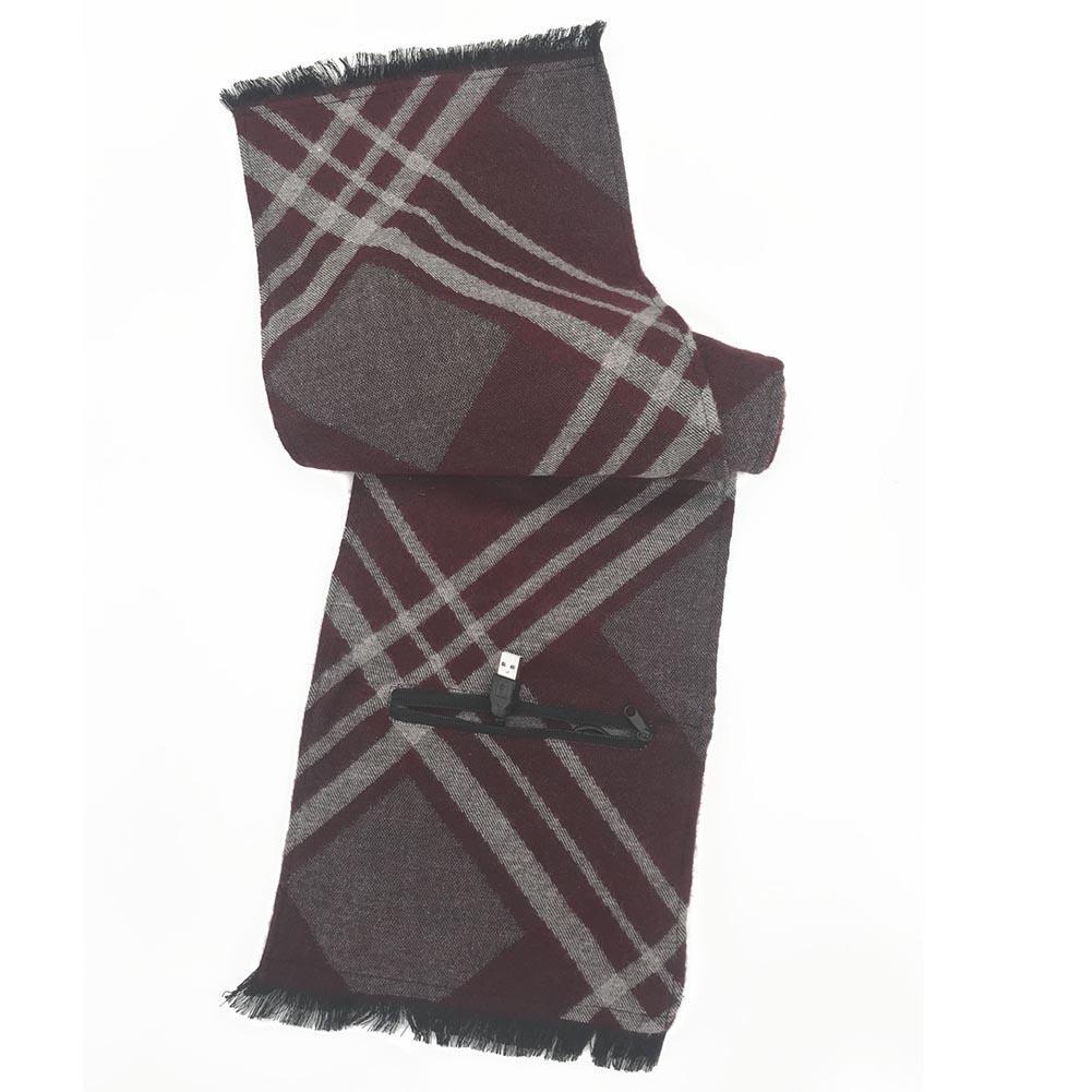 Кашемировый Usb Электрический шарф перезаряжаемый шарф с подогревом моющийся шарф теплый для шеи защитная одежда - Цвет: Черный