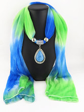 Pendant pendant scarf gradual color silk fashion Korean version of water drop hot selling
