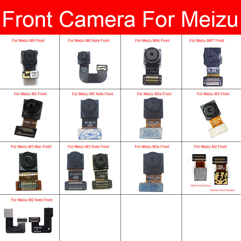 Front Small Camera For Meizu M2 M3 M3s M5 M5s M6s M6 M6T Note L861H M681Q M681C M681H Facing Camera Module Flex Ribbon Cable