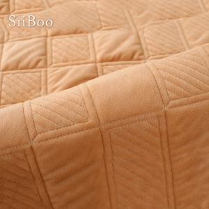 Image 5 - Café xadrez acolchoado de pelúcia secional sofá capa slipcovers móveis capas de sofá protetor capa de sofá fundas sp5640