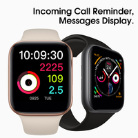 Smart Watch Series 4 SmartWatch Case For Apple IPhone Android Smart Phone Heart Rate Monitor Pedometor (Red Button) IWO8/W54
