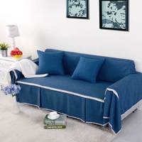 for Imitation linen fabric sofa Towel Couch covers solid color stretch Furniture slipcovers sofa covers sectional home decoratio