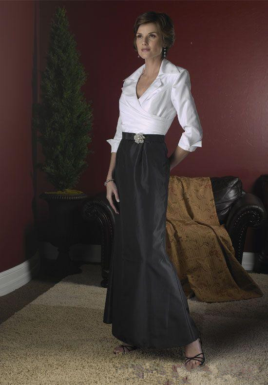 Black White Mother Of The Bride Dresses Mermaid V-neck 3/4 Sleeves Plus Size Long Groom Mother Dresses For Wedding