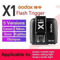 GODOX X1T-F X1T-C X1T-S X1T-O X1T-N 2.4G bezprzewodowy TTL flash hss nadajnik wyzwalacza dla Sony Nikon Canon Fujifilm Olympus Camera