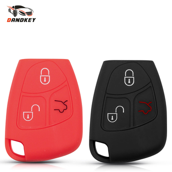 Dandkey Silicone Key Cover Case Shell 3 Buttons Keyless For Mercedes Benz W203 W211 CLK C180 E200 AMG C E S Class Accessories image