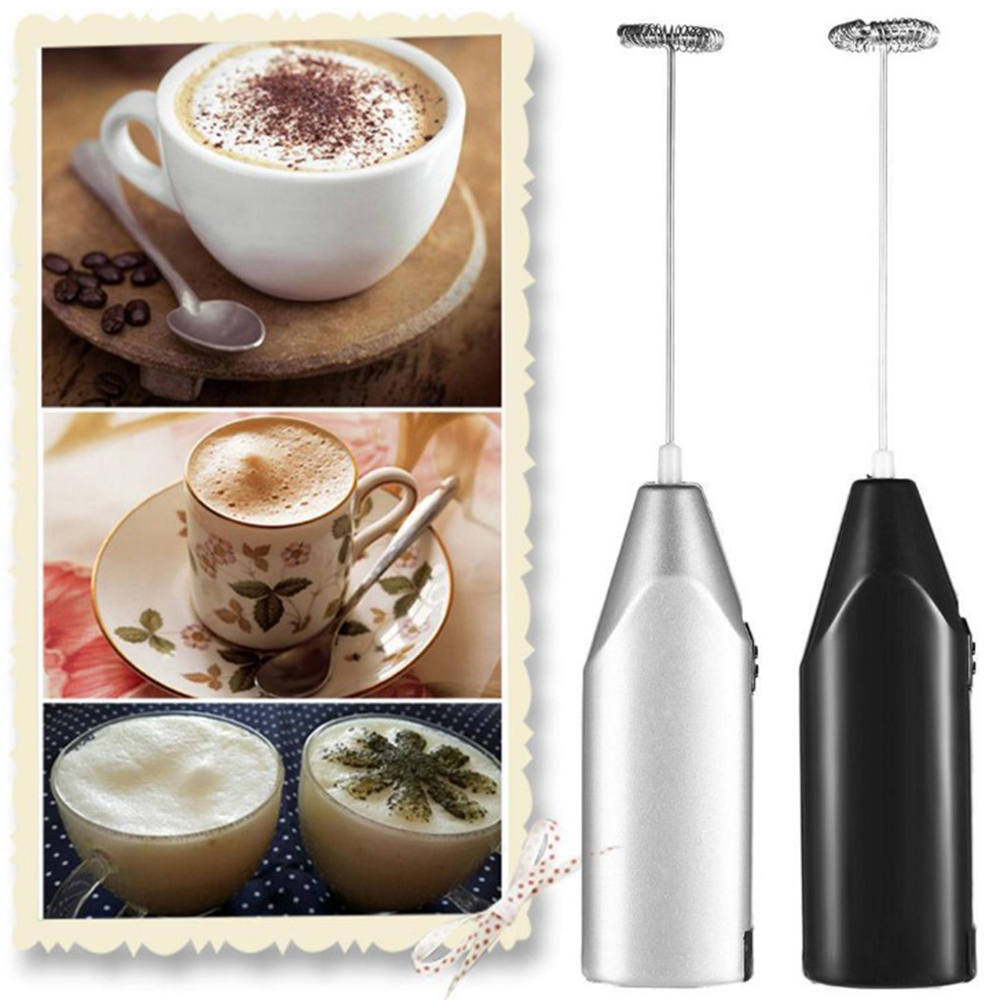 Electric Milk Frother Drink Foamer Whisk Mixer Egg Stirrer Stainless Steel Tool
